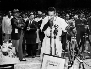 Lou Gehrig's famous farewell address on July 4, 1939
