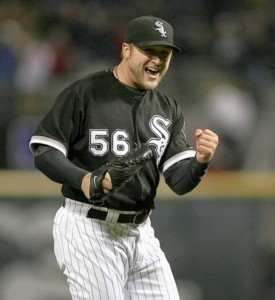 Mark Buehrle becomes only the 18th pitcher in baseball history to throw a perfect game.