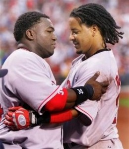The New York Times is reporting that David Ortiz and Manny Ramirez are among the 104 players that tested positive for performance enhancing drugs in 2003.