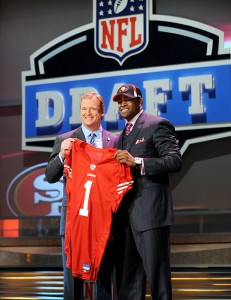 Crabtree was all smiles the night of the NFL Draft.