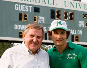 Jack Lengyel, who served as the head coach at Marshall University from 1971-1974, was played in the film We Are Marshall by Matthew McConaughey.