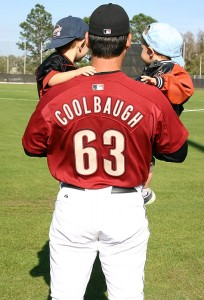 Mike Coolbaugh checking out the sitaution with his two boys
