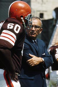 Blanton Collier was 76-34-2 in eight seasons leading the Cleveland Browns.