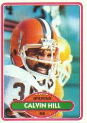 Hill spent four seasons with the Cleveland Browns and was used primarily as a receiver out of the backfield.