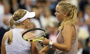 Caroline Wozniacki ended the Cinderella run of Melanie Oudin in the U.S. Open Quarterfinals.