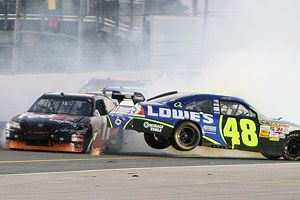 Jimmy Johnson and the others will need to get out of Denny Hamlin's way during the NASCAR Chase for the Cup