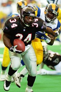 Heyward played for five teams in his NFL career. His best season was with Atlanta in 1995 when he rushed for 1,083 yards and was named to the Pro Bowl.