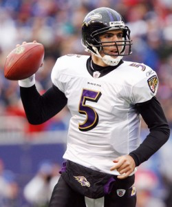 Joe Flacco will look to lead the Ravens to the SUper Bowl in his season season as the starting quarterback.