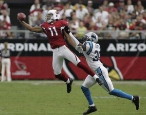 Larry Fitzgerald and the Arizona Cardinals were the surprise team of the 2008 playoffs and very nearly won the Super Bowl.
