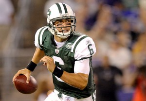 Mark Sanchez will learn on the job as a rookie starter in the NFL.