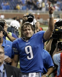 Matt Stafford was solid in recording his first NFL victory.