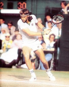Bjorn Borg was the face of professional tennis in the 1970s.