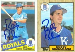 Buddy Biancalana Double Panel Tops Card 1984
