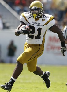Jonathan Dwyer rushed for 1,395 yards last season for Georgia Tech.