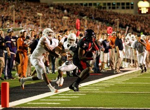 Michael Crabtree's catch and touchdown at the end of the Texas Tech-Texas game was the biggest play of the 2008 College Football season.
