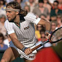 Bjorn Borg was the face of tennis in the late 1970s.