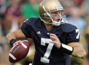 Jimmy Clausen has thrown 10 touchdown passes in 2009 with just one interception.