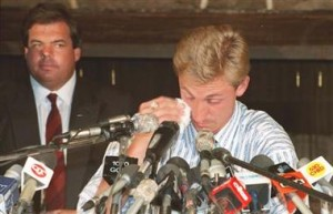The trade of Gretzky to Los Angeles was emotional for him and for fans of the Oilers.