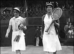 Helen Wills Moody and Suzanne Lenglen combined to win 30 Grand Slam titles between 1917 and 1938.