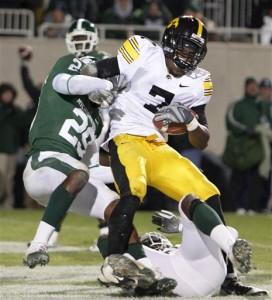 Iowa kept their undefeated season alive with a score on the last play against Michigan State.