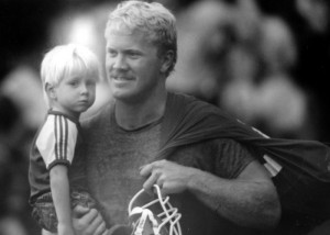 Karl and his son Luke during his playing days