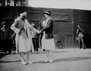 Lenglen and Helen Wills (right) were rivals during the 1920s.
