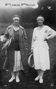 Suzanne Lenglen (right) was Mallory's greatest contemporary rival.