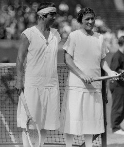 Mallory (left) was 42-years-old when she rallied to defeat Elizabeth Ryan for the U.S. National Championship in 1926.