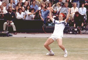John McEnroe ended Borg's run at Wimbledon in the 1981 Finals.