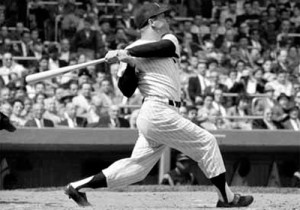 In an era when the only postseason series was the World Series, Mickey Mantle hit 14 home runs in his first 42 World Series games.