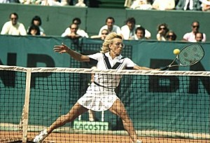 Martina Navratilova won 15 singles and 25 doubles Grand Slam titles during the 1980s.