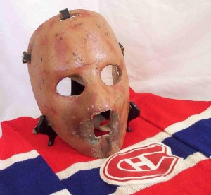 Plante's first mask wasn't the prettiest looking, but after sparking a winning streak it was here to stay.