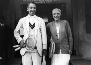 Lenglen and Rene Lacoste were among the top tennis stars of the 1920s.