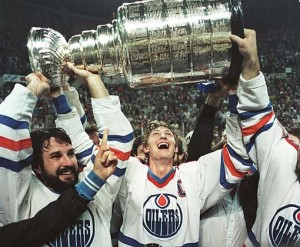 Gretzky won four Stanley Cup titles with the Oilers.