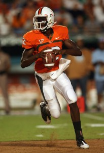 Jacory Harris has emerged as a standout quarterback in his second season with the Hurricanes.