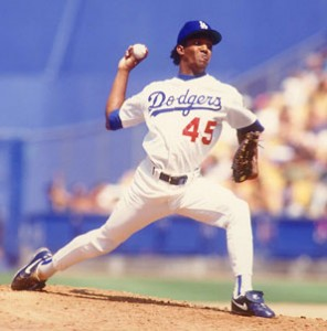 Pedro Martinez started his career pitching at Dodger Stadium as a member of the Dodgers.