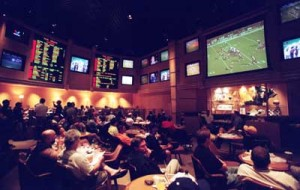 Watching a game from a sports book is almost as good as watching in person.