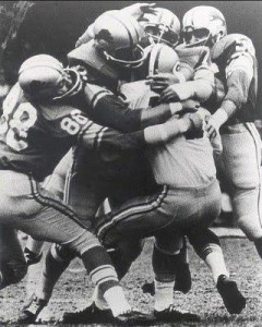 The Packers and Lions met annually on Thanksgiving from 1951 through 1963. In 1962 the Lions ended the Packers hopes for an undefeated season with a 26-14 Thanksgiving Day victory.