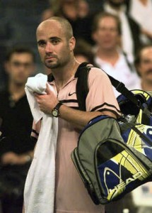 After being the number one player in the world in 1995, Andre Agassi had fallen to number 141 in 1997.