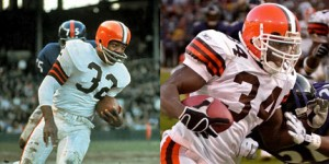 The uniform of the Cleveland Browns hasn't changed much since the days of Jim Brown.