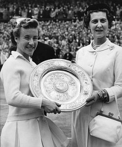 Just two weeks after claiming her third Wimbledon title in July 1954, Connolly's career was ended following a horse riding accident.