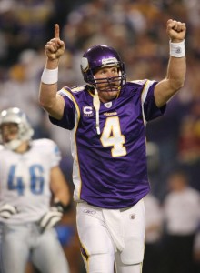 Brett Favre is off to a hot start for the Vikings.