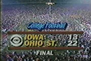 The Iowa Hawkeyes were undefeated before playing at Ohio State in 1985.