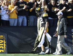 Iowa's chances at a national title ended with the injury to quarterback Ricky Stanzi.