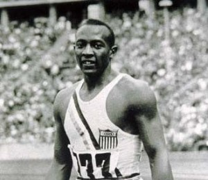 Jesse Owens became an American hero at the 1936 Olympics in Berlin.
