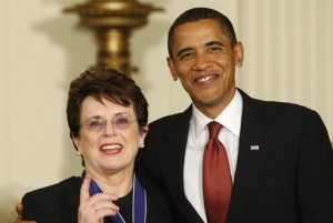 King was awarded the Presidential Medal of Freedom by President Obama.