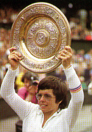 King won the Wimbledon singles crown six times.