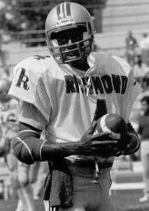 Melvin still holds several receiving records at the University of Richmond.
