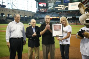 Natalie Niekro at Pre-game Ceremonies at previous event in Houston
