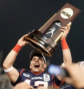 The 2008 Richmond Spiders advanced through the playoff system to win the Division I-AA National Title.